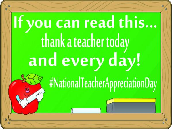 Happy #NationalTeacherAppreciationDay! Minnesota teachers give their all to help our children succeed #Thankateacher pic.twitter.com/DL6UWfkITP