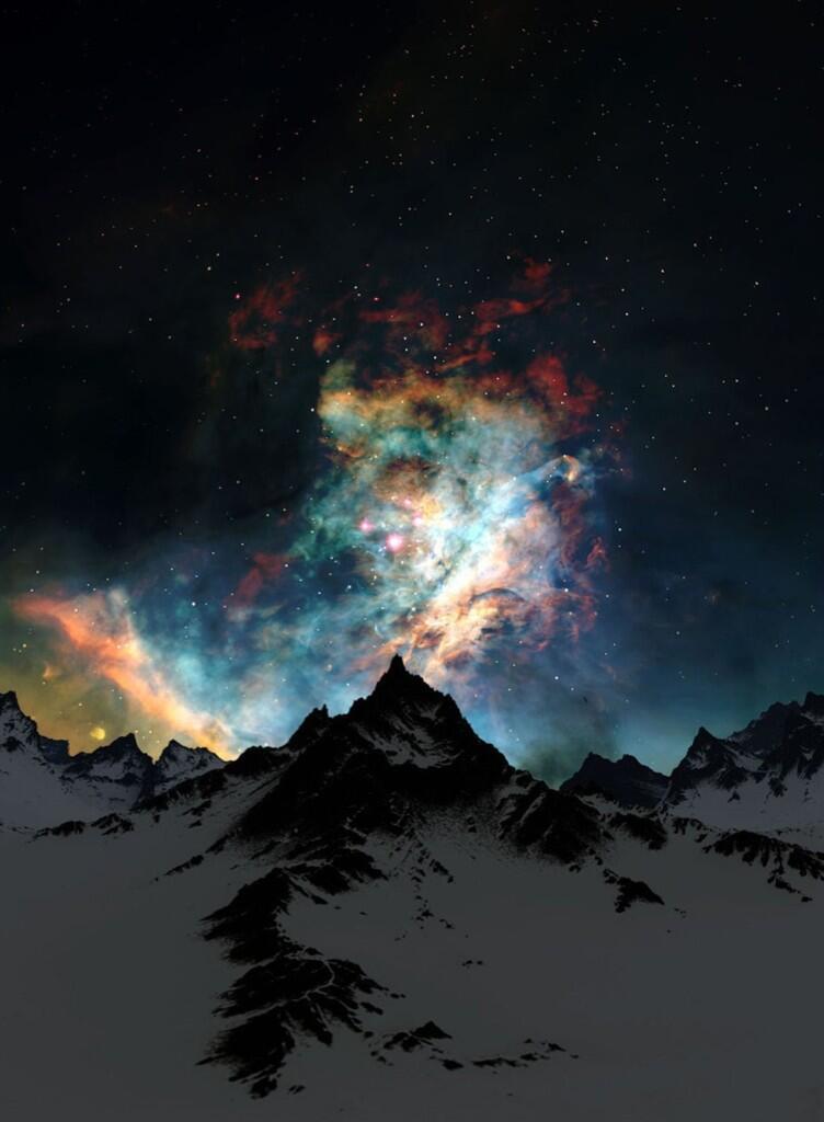 mountain snow galaxy nebula -#main