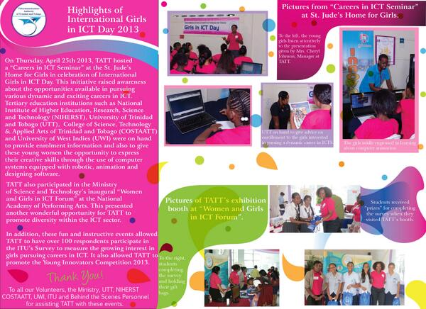Highlights of International Girls in ICT Day 2013. @ITU and #girlsinICT pic.twitter.com/UqadwI6POp