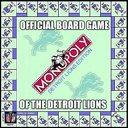 Nfl Memes On Twitter Detroit Lions Monopoly Http T Co Jb8abu8ubt