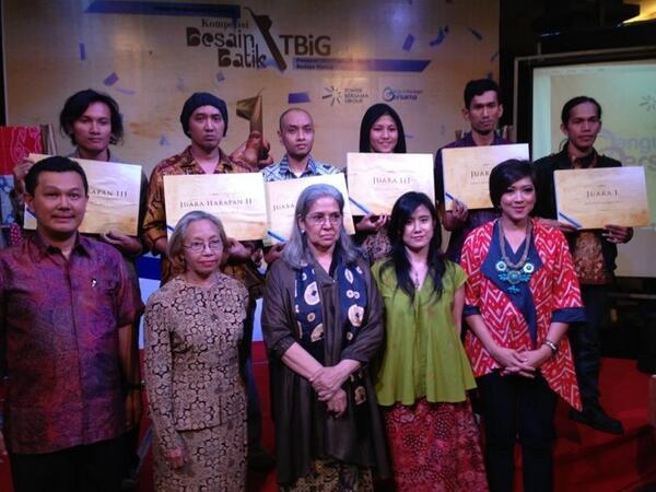 Ini dia 6 pemenang Lomba Desain #BatikTBiG, mereka dari kota berbeda lho! Selamat ya :)