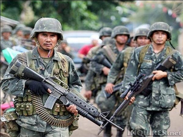 マイナー系ミリフォトbot в Твиттере: «フィリピン海兵隊  遠目に見るとナム戦っぽい 如何にも軍隊って感じ  #フィリピン軍 http://t.co/V0ZwPZvTNV»