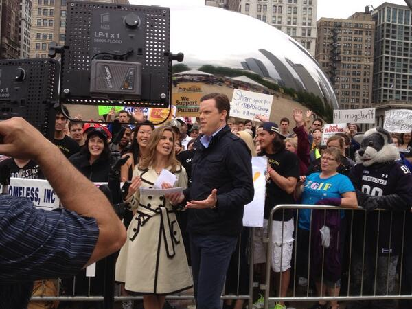 @NMoralesNBC & @WillieGeist say goodbye to Chicago #TodayinChicago pic.twitter.com/GWGRdqSuqQ