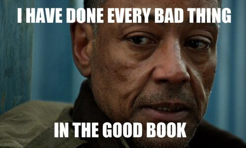 I have done every bad thing in the good book. #Revolution http://twitter.com/NBCRevolution/status/337244258736148481/photo/1