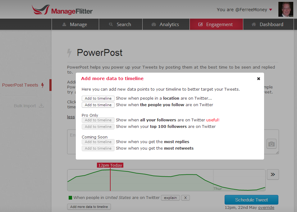 Twitter / FerreeMoney: Powerpost on ManageFlitter ...