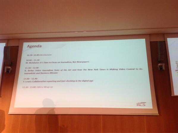 L'agenda della giornata su #Innovationjournalism pic.twitter.com/sX0aXqJcQv
