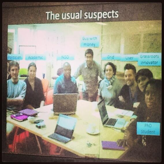 The Usual Suspects: a role-play exploring grassroots innovations by #sss13 pic.twitter.com/nWwqz7fT6i
