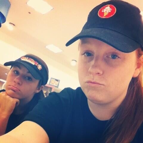 Yeah we're just at Belk... Selling ice cream and shit... #ColdStoneProbs