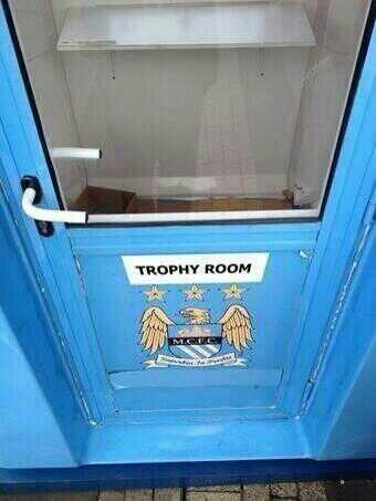 Manchester United News On Twitter Man City S Trophy Room This