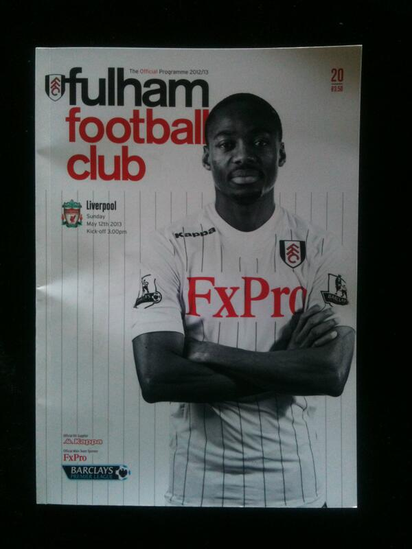 Today's match programme from Craven Cottage #LFC #fulham pic.twitter.com/74n5kp6B3u