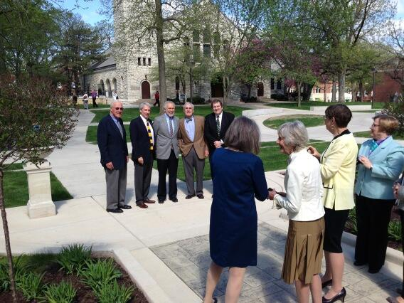Four Beloit presidents & 1 president's son get their close up. #BC13 pic.twitter.com/wbT3D20zMr