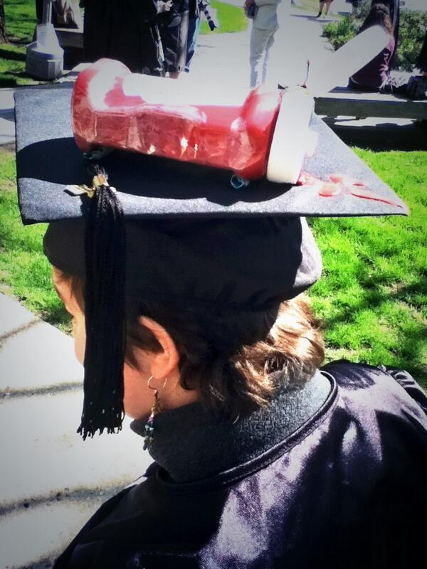 One of those just-mentioned mortar boards. #ketchup #BC13 pic.twitter.com/8s7L1zjwZ0