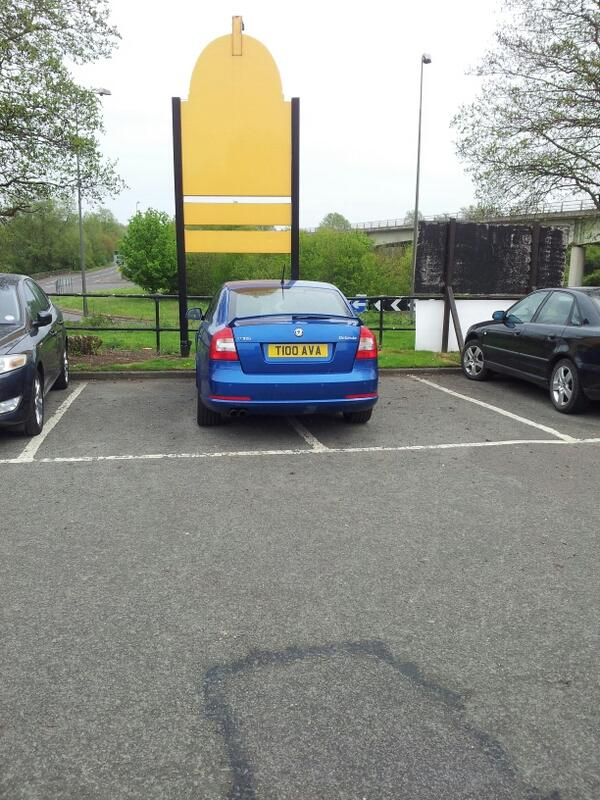 T100 AVA displaying Inconsiderate Parking