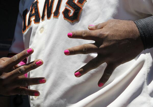 Rt Mlb Panda Sporting Pink Nail Polish To Promote T Cancer Awareness Pic Twitter Omrqxs8nbv