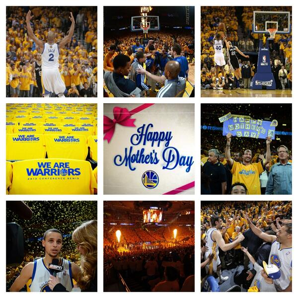 Overall a wonderful Mother's Day on #WarriorsGround | pic.twitter.com/nQ6NifeYWO