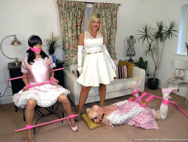 Sissy satin maid spanked amp cum by madamec - 1 part 8