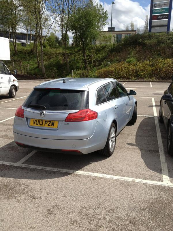 VU13 PZW displaying Inconsiderate Parking
