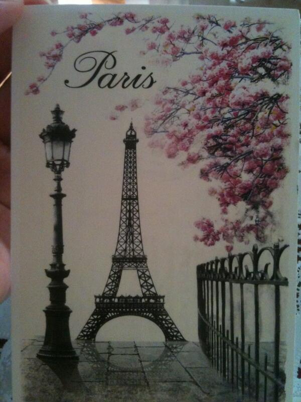Привет из парижа открытка