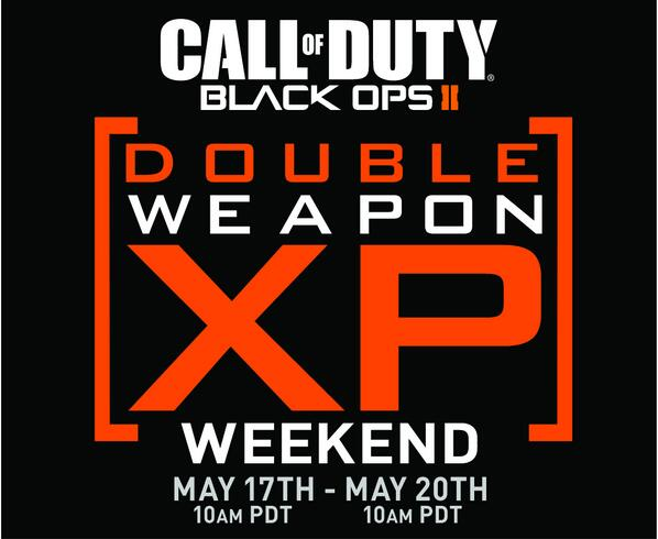 Black Ops 2 Double Weapon XP Weekend