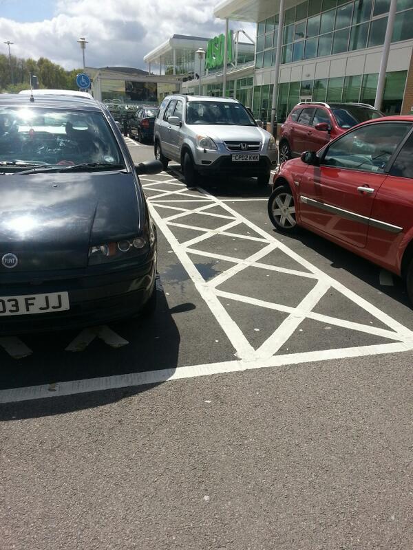CP02 KWK displaying crap parking