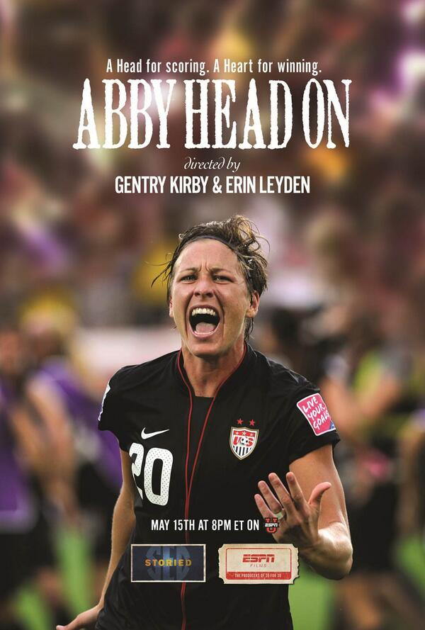 A head for SCORING. A heart for WINNING. The #SECStoried film #AbbyHeadOn premieres in one hour on @ESPNU. http://t.co/ilkbq6hMES