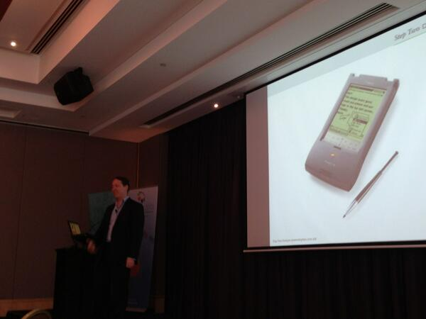 James Robertson shares an image of the Apple Newton mobile device