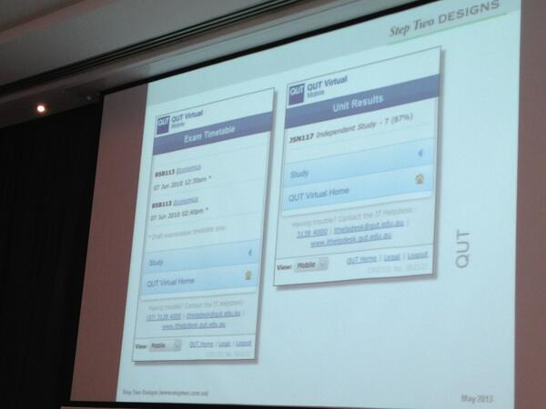 QUT's mobile intranet for students