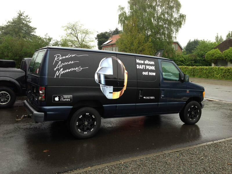 Twitter / SonyMusicBE: Spot the black #DaftPunkvan ...