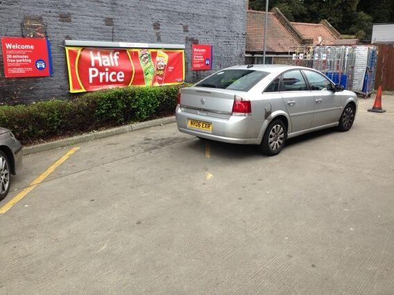MV06 EXR displaying Selfish Parking