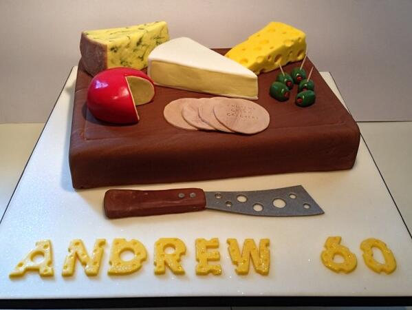 CakesByRachelRachel on Twitter Cheeseboard 60th birthday cake So