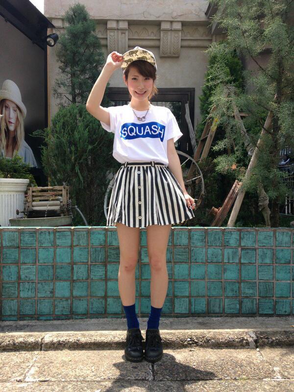 【ZOZO】スナップ更新)WEGO京都店からレディースコーデをお届け♪人気のストライプショーツとBOXロゴTeeに、キャップを合わせたスポーツMIXコーデ◎季節感溢れる爽やか