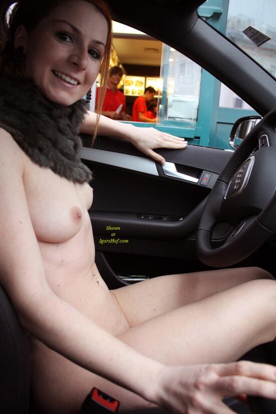 naked at drive thru