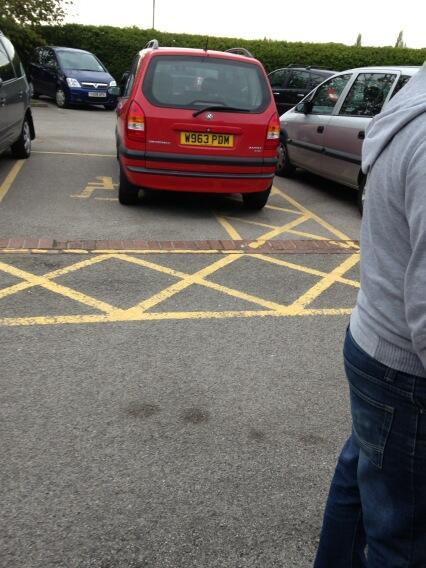 W963 PDM displaying Selfish Parking