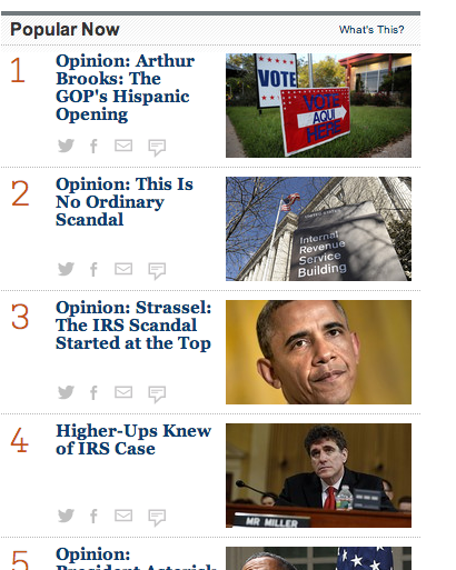 Twitter / rajunarisetti: Check out @WSJ's revamped Popular ...