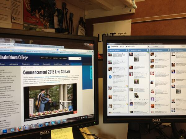 The Social Media Command Center for today. Thanks for sharing, all! #etown2013 pic.twitter.com/17Aimk0nLd