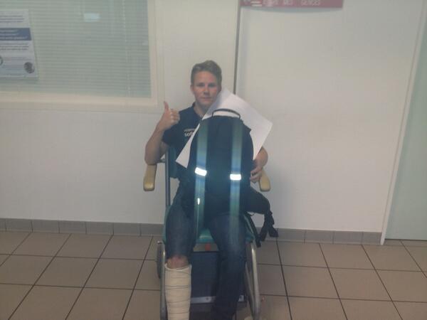 Danny Webb Broken foot Le MAns