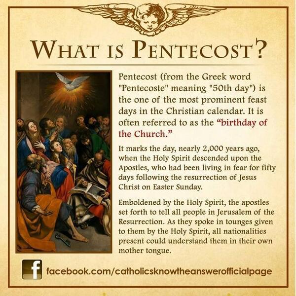 pentecost quotes catholic