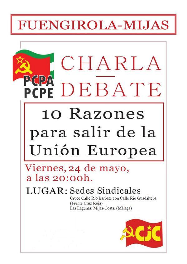 Fuengirola-Mijas, Charla-Debate; 10 razones para salir de la Unión Europea  BKphGpKCYAAoPX5