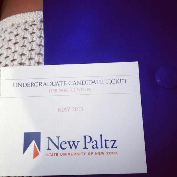 Graduated today! Congratulations class of 2013!!! Thank you to everyone who taught and helped me @newpaltz pic.twitter.com/gERYvbEqxK