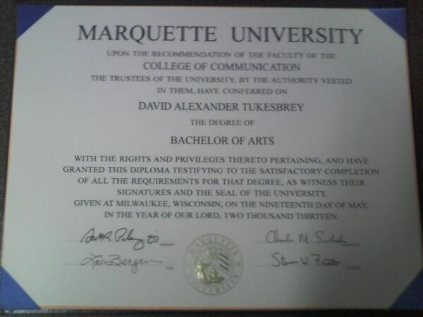 I worked long and hard for four years. This is what I have to show for it: #mu13 pic.twitter.com/und2fwZVlZ