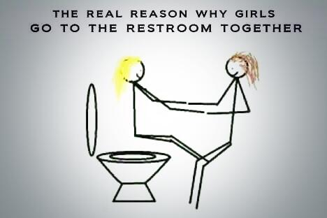TheFunnyNotes  The real reason why girls go to the restroom together     pic twitter com CGy7hodZV7. The Funny Notes on Twitter   The real reason why girls go to the
