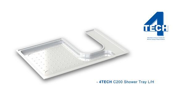 4TECH C200 Shower Tray L//H