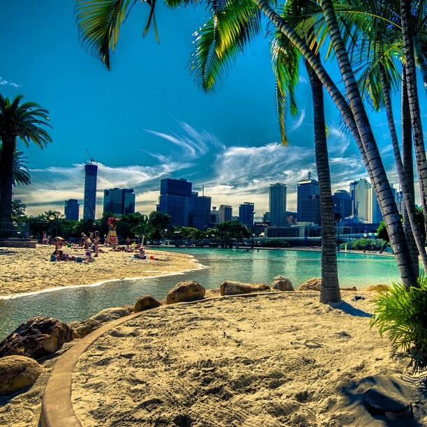 """Australia on Twitter: """"A beach in the middle of a city ..."""