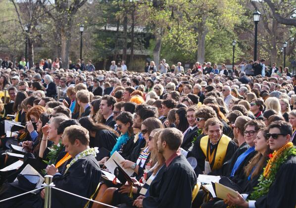 """""""@ColoradoCollege: Members of the #ColoradoCollege2013 graduating class at Commencement pic.twitter.com/X9a1BosYdi"""" Congrats!! #ColoradoStrong"""