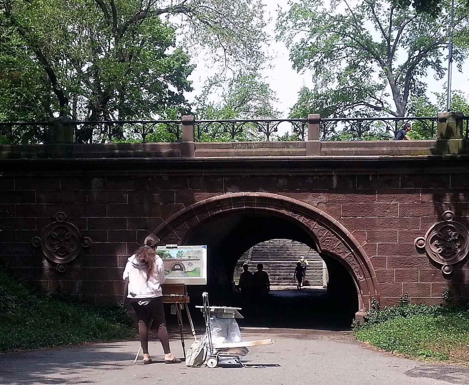 Twitter / My_Cen_ParkNYC: #Artists at work in #CentralPark ...