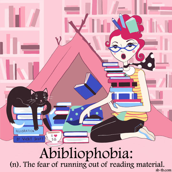 Image result for abibliophobia cartoon