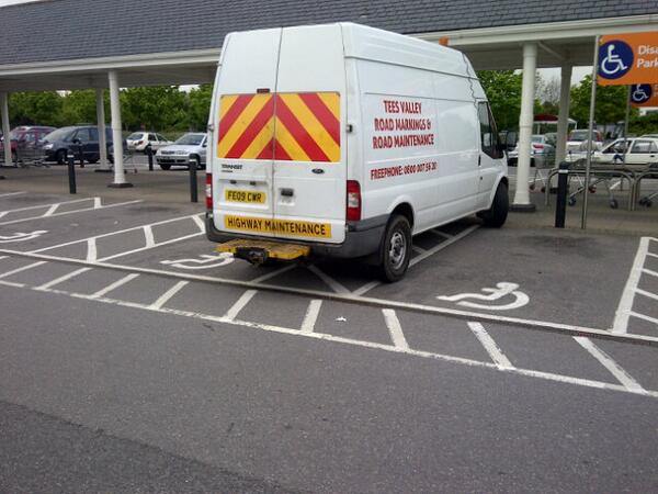 FE09 CWR displaying Inconsiderate Parking