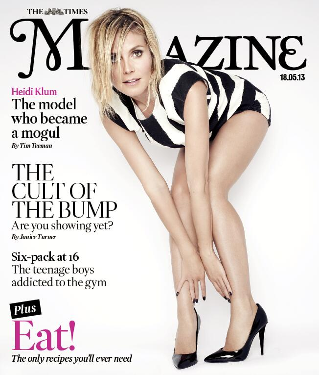 ‏@heidiklum Made The Front Cover Of The London @TimesMagazine (@rankinphoto)