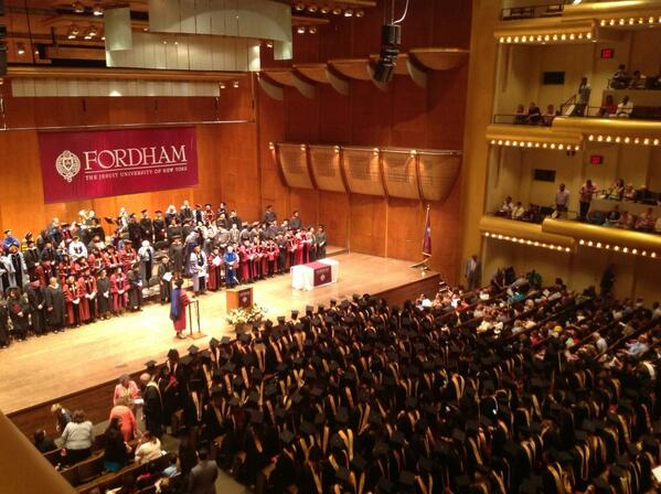 The #Fordham2013 Graduate School of Social Service diploma ceremony #AveryFisherHall #LincolnCenter pic.twitter.com/QZwKOyk9kk