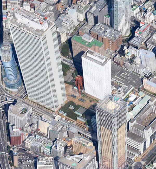 """@StarKnight: 假如超大型巨人(50米级)出现在东京(示意图)……这也太没冲击力了。https://t.co/SCMHEwrnAd"""